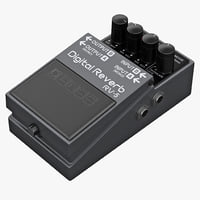 3d guitar effects pedal boss model
