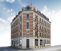3d facade old building model