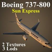 3d boeing 737-800 sxs model