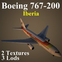 boeing 767-200 ibe 3d max