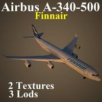 airbus fin 3d model
