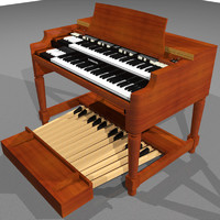 3d model organ keyboard hammond