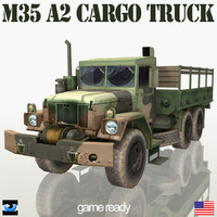 military truck m35 a2 3d model