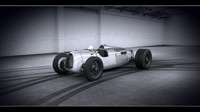 Auto Union Type C - Whit HQ interior and engine 1936