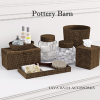 3d model of pottery barn tava bath