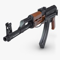 3d kalashnikov rifle ak 2 model