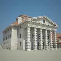 3d model old building complex
