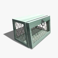 3d chicken wire box model