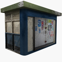 3d newsstand ready unreal model
