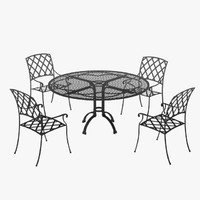 garden table chair 3d model