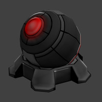3ds turret sci-fi