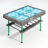 3d model of tiled table
