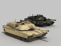 Lowpoly Abrams tank
