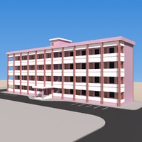 3d academic building model