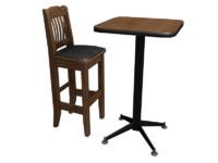 beautiful bar chair table 3d max