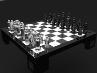 3d model chess set diamonds