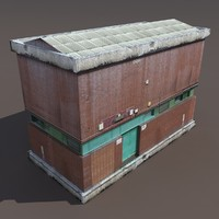 Factory Low poly 3d Building