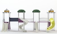 playground water park slides obj