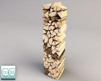 wood pile 3d model