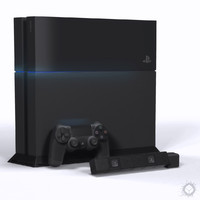3d model gaming sony playstation 4