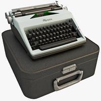 vintage typewriter olympia 1964 3d model