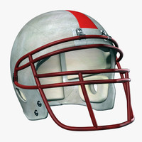 3d model american football helmet