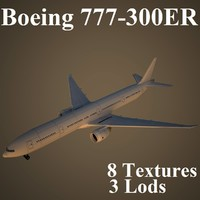 3d model boeing air low-poly