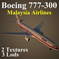 3d boeing 777-300 mas