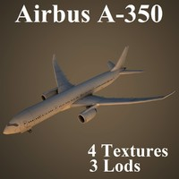 3d airbus a-350 airlines