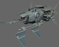 3d command spaceships model