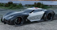stingray corvette police car 3d model