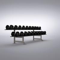 3d obj fitness weights
