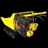 motorized barrow 3d obj