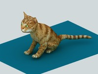 3d model of cat dae vrml