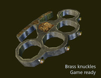 brass knucles 3d model