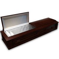 3d model coffin wood
