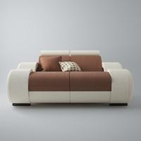 3d modern sofa 2x
