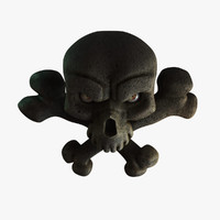 pirate skull 3d obj