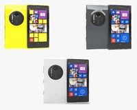 nokia lumia 1020 colors 3d model