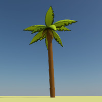 cartoon palm tree 3ds
