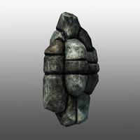 3d model rocky cliff