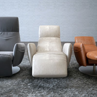 3d model poltrona frau pillow reclining
