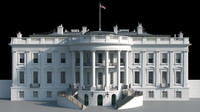 3d obj white house