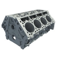 3d model v8 engine block