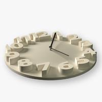 modern wall clock 3d obj