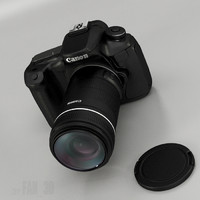 3d canon eos camera model