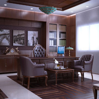 3d model executive office