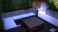 wicker sofa interior 3d model