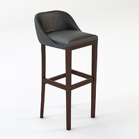 maya leather bar stool