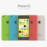 3d model apple iphone 5c color
